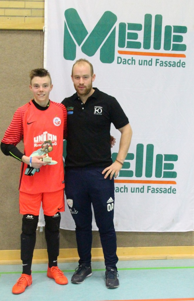 Bester Torwart Alexander Bröcker (Hansa Rostock)