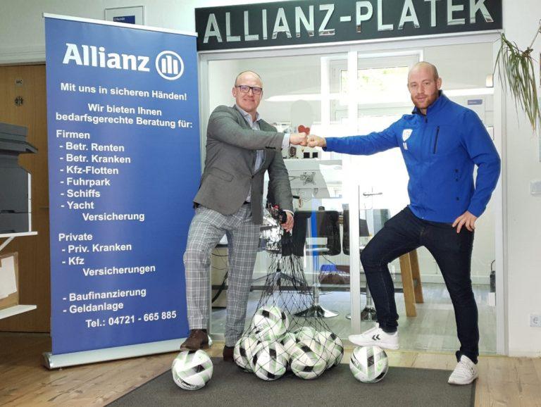 10 neue Bälle für unsere Youngster – Allianz Versicherung Rafael Platek unterstützt unsere U14
